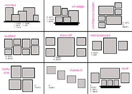 Small Picture Life saving cheat sheet on how to arrange frames on the wall to