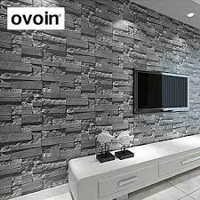 Modern Stacked Brick 3d Stone Wallpaper ...