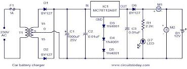 car battery charger electronic circuits and diagram electronics 12v battery charger circuit without transformer at Battery Charger Block Diagram