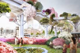 a rendering of the skygarden to be located in seoul south korea