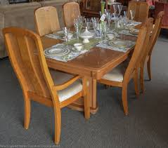 dining table parson chairs interior: cozy wood dining table by broyhill furniture with parson dining chairs for traditional dining room design