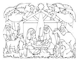 Pleasant Christmas Nativity Coloring Pages For Adults Color Download