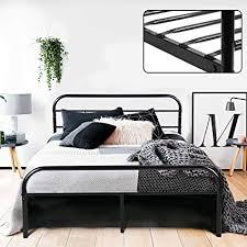 Amazon.com: GreenForest Full Bed Frame Metal Platform Mattress Base ...