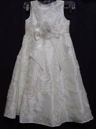 Us Stock Flower Girls Dress Off White Wedding Veil First