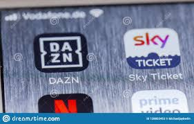 DAZN And Sky Ticket Apps On Broken IPhone Screen Editorial Stock Photo -  Image of live, illustrative: 128853453