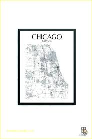 vintage chicago map map wall art wall map wall art city of map wall art vintage