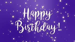 Purple Happy Birthday Greeting Card Video Animation With Handwritten