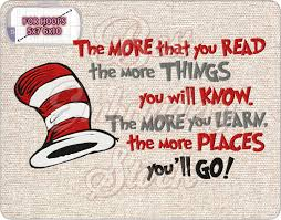 Dr Seuss Embroidery Designs The More That You Read By Dr Seuss Embroidery Quote Machine