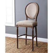 Abbyson Living French Vintage Wheat Linen Round Back Bar Stool c8aecf41 6769 4106 90ac b2360de76b7b 600