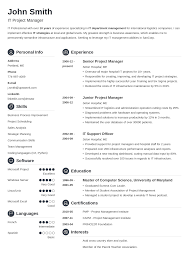 Excellent Cv 20 Cv Templates Create A Professional Cv Download In 5 Minutes