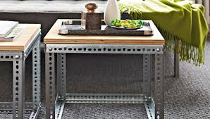 easy diy furniture ideas. DIY Projects: Creative Furniture Ideas - These Industrial Side Tables Offer  A Trendy Modern Look Easy Diy Furniture Ideas