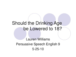 Id Be Presentation - 18 6197805 Should Lowered Powerpoint Age The Drinking Ppt To