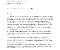 Stunning Sample Cover Letter For Teaching Position Photos Hd