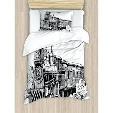 steam engine rustic old train in country duvet cover set covers french nz