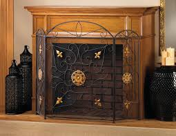 iron fireplace screens. Decoration Wrought Iron Fireplace Screens .