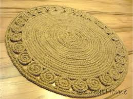 exclusive jute rug retro style rug braided style rug floor decor 32 inches 80cm no 005