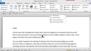 Microsoft Word Apa Header How To Make Headers Consecutive Page Numbers Using Word Ms Word Skills