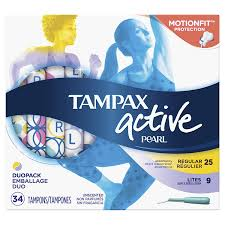 Tampax Sport Light Tampax Pearl Active Plastic Tampons Light Regular Absorbency Multipack Unscented 34 Count Pack Of 6 204 Total Count Packaging May Vary