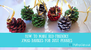 eco friendly xmas baubles for just pennies