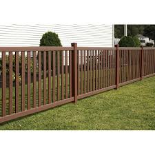 brown vinyl picket fence. Bufftech Baron Select Cedar Vinyl Fence Sections Brown Picket T