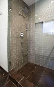 bathroom glass tile shower. champagne glass subway tile bathroom shower s