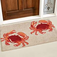 crabs accent rug natural