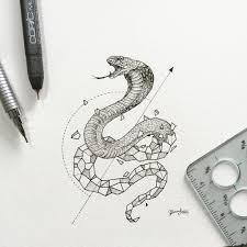 Geometric Beasts Cobra надо попробовать тату кобры татуировки