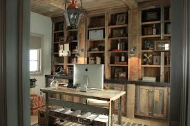 country office decor. Rustic Built In Cabinets Country Office Decor O
