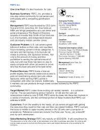 Executive Sumary Sample Executive Summary