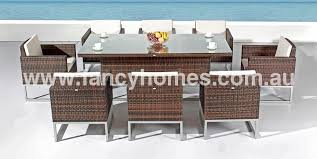 outdoor furniture australia melbourne. limary - outdoor wicker dining set table + 8 chairs furniture australia melbourne