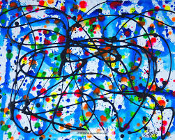 jackson pollock paintings jackson pollock style mid century retro modern abstract painting pablo