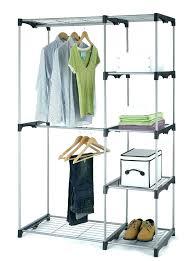 portable closet with shelf clothes hanger rack shelves storage ideas fashion fabric new wardrobe wood