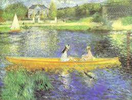 banks of the seine at asnieres painting pierre auguste renoir banks of the seine at