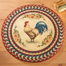 round kitchen rugs rooster
