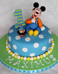 Mickey Mouse First Birthday Cake Dolce Ladybug