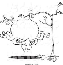 Small Picture Vector of a Cartoon Fat Partridge Hanging Upside down in a Pear