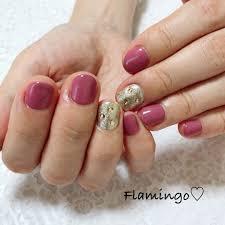 Flamingoさんのネイルデザイン ワンカラー シンプルネイル