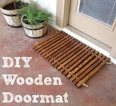 diy wood and rope doormat