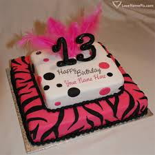 birthday cake for teen girls 13. Fine Birthday Birthday Cakes For 13 Year Teenage Girls With Name Photo  Happy  Wishes To Cake Teen S