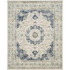 safavieh evoke savoy ivory blue indoor oriental area rug common 8 x 10