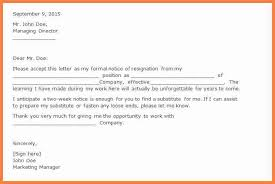 Two Week Resignation Letter Adorable 48 48 Months Notice Resignation Letter Notice Letter