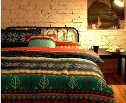 boho king comforter set bedding sets bedroom country road double bed quilt cover style quilts red