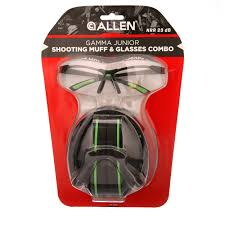 Gamma Junior Shooting Muffs And Glasses Blackneon Green By Allen