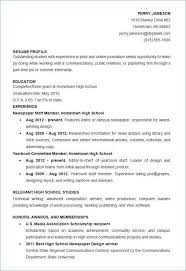 High School Resume Examples Inspiration High School Resume Examples New High School Student Resume Examples