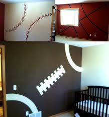 Bedroom : Cool Sports Themed Bedrooms Football Theme Over The Beds ...