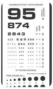 Free Printable Near Vision Chart Rosenbaum Pocket Vision Screener Card