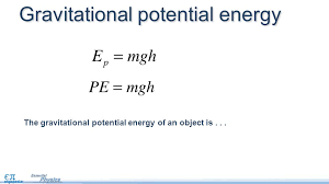 4 gravitational potential energy the gravitational potential energy of an object is