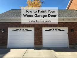 wood garage door. How-to-Paint-Your-Wood-Garage-Door-with- Wood Garage Door R