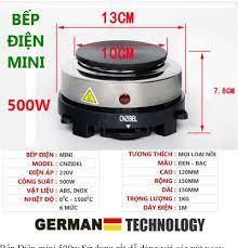 ⭐Bếp Điện Mini 500w - 1000w nắp gang bếp điện đa năng pha cà phê pha trà  pha sữa... Phù hợp với tất cả các loại nồi: Mua bán trực tuyến Bếp