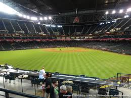Chase Field Az Seating Chart Chase Field View From Picnic Pavilion Vivid Seats